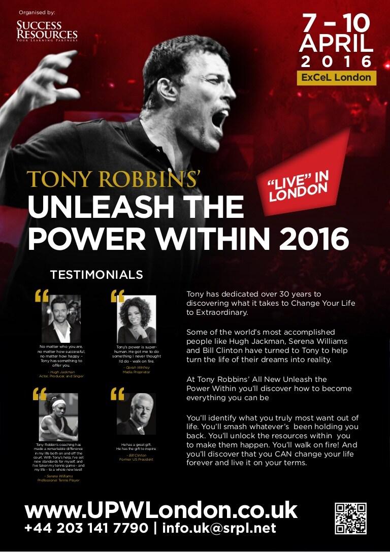 Séminaire UPW Londres 2016 – Unleash the Power Within, de Tony Robbins